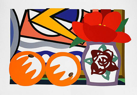 Still Life with Lichtenstein and Two Oranges 1992