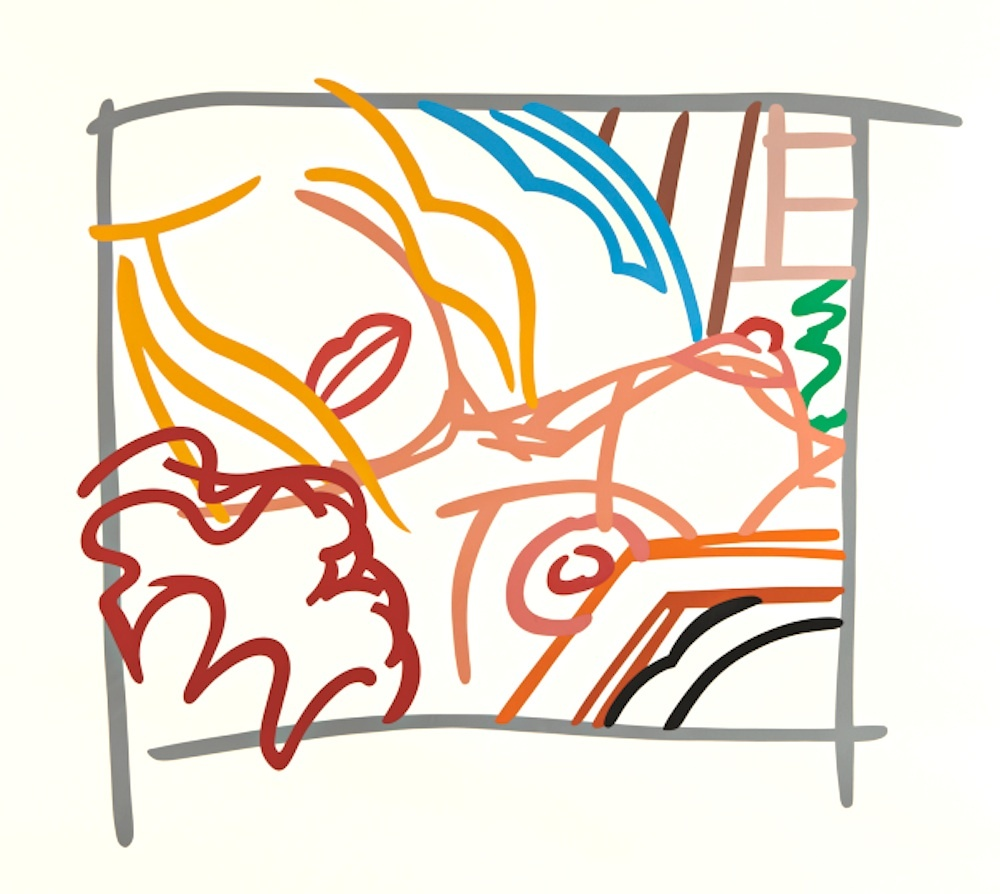Bedroom Blonde Doodle With Photo  1988 61x71