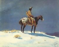 Nez Perce on Appaloosa
