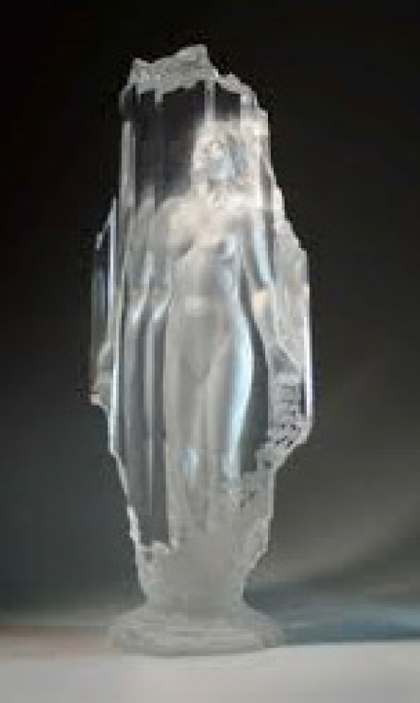 Lightfall Acrylic Sculpture 1989 34 in