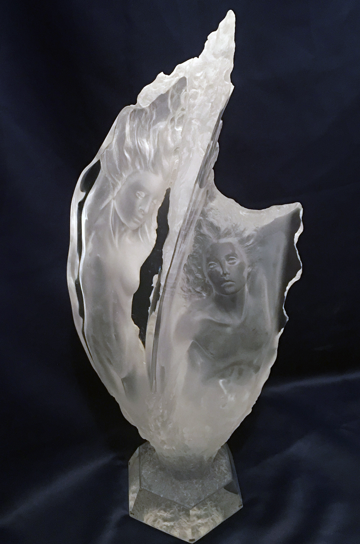 Study of Prometheans  Acrylic Sculpture 1994 26 in