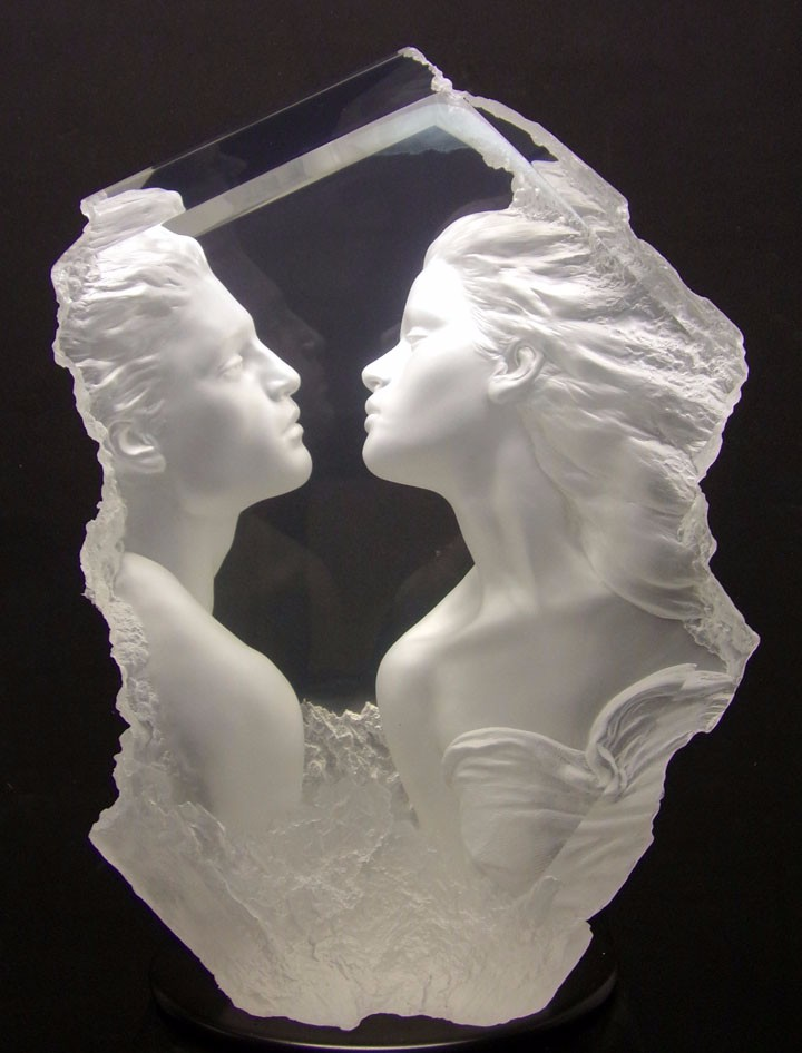 Lodestone  Acrylic Sculpture 2004 24 in