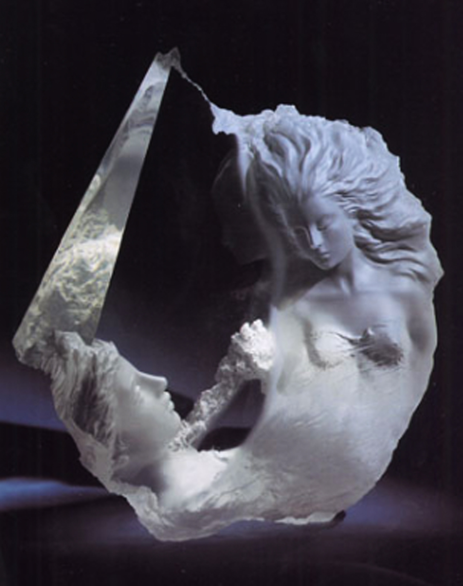 Atlanteans IV Discovery Acrylic Sculpture 1992 20 in