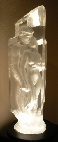 Temple Acrylic Sculpture 1999