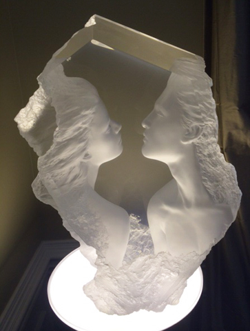 Lodestone Acrylic Sculpture 2000 23 in