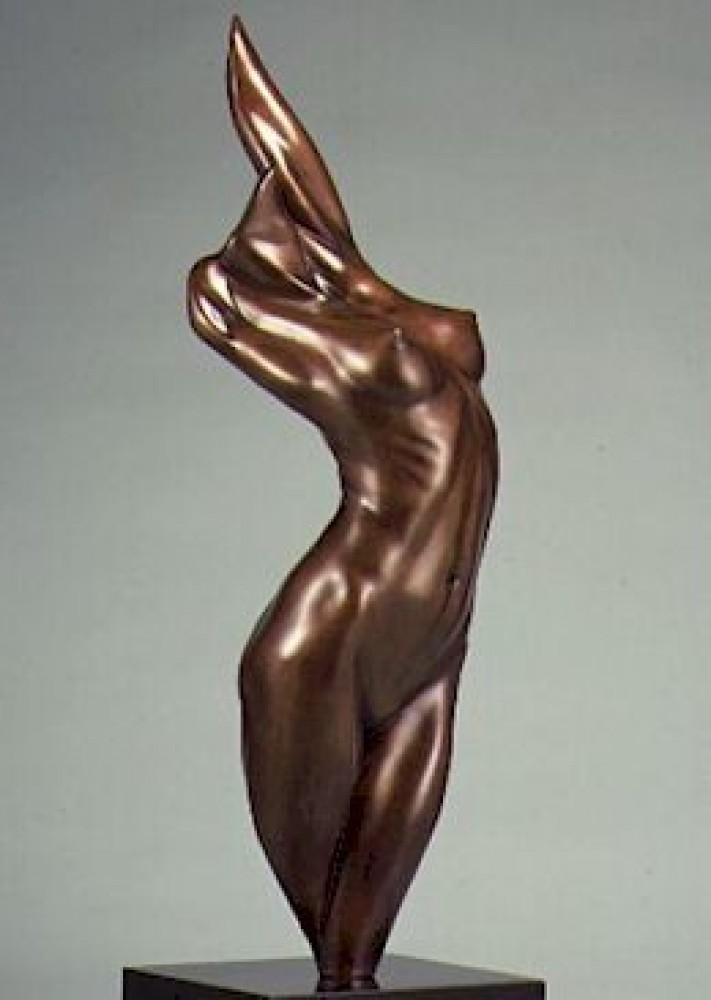 Fire Bronze Sculpture 1984 21 in