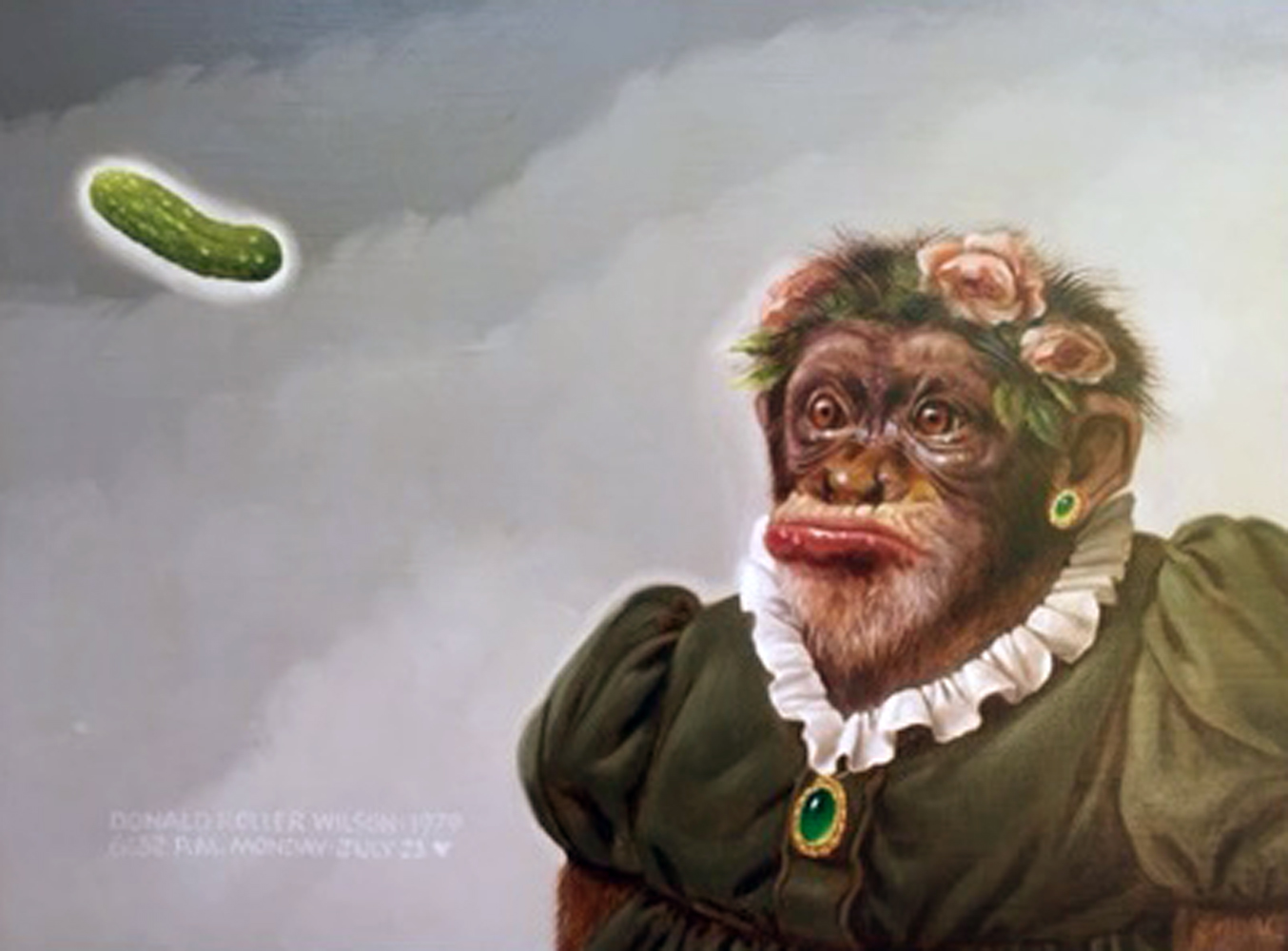 Betty is Disgusted By the Pickle 1979 16x20 by Donald Roller Wilson
