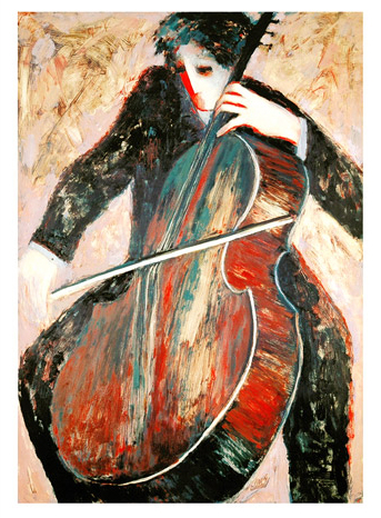 Cellist and Violinist, Suite of 2 2003