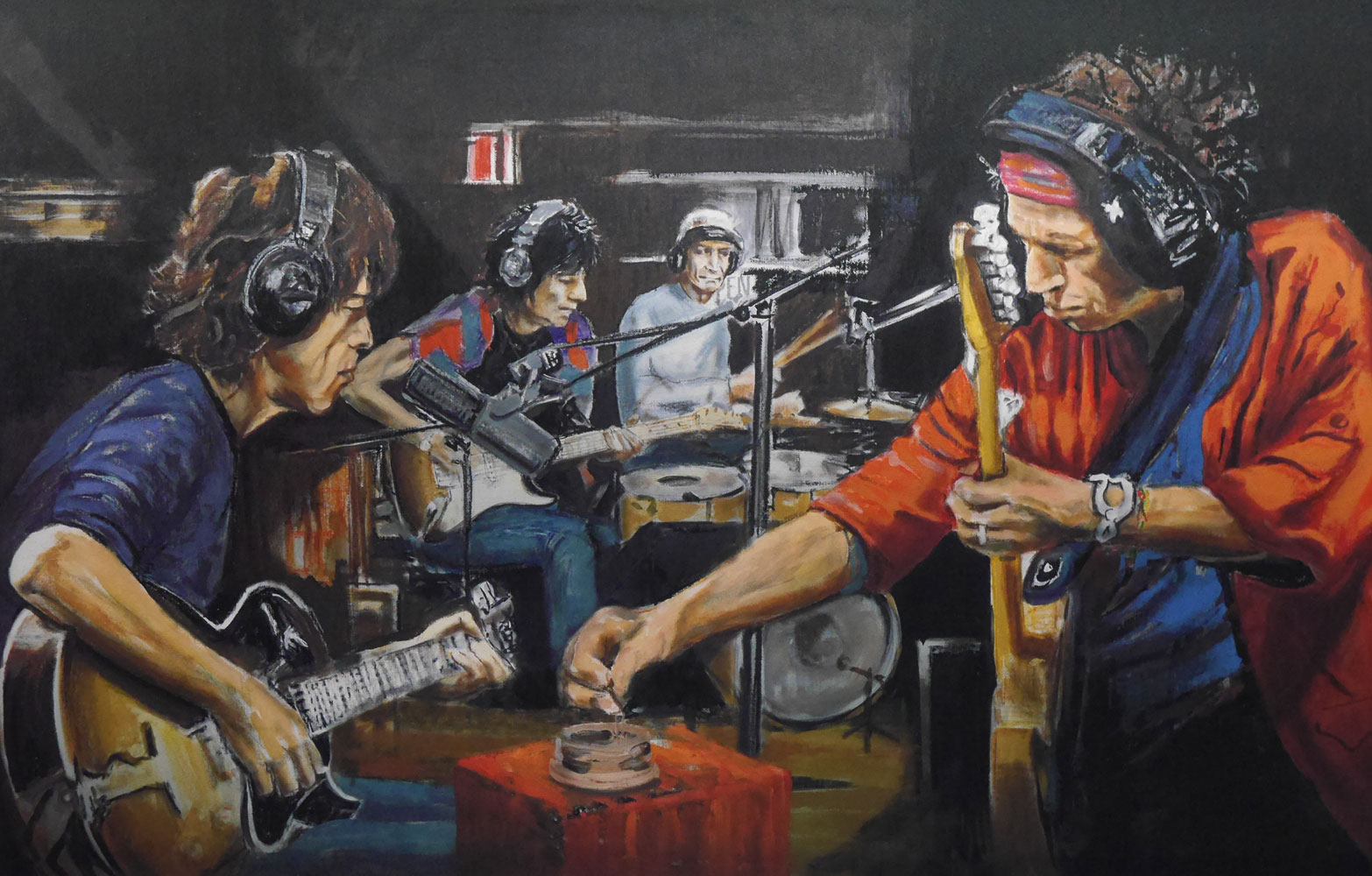 Rolling Stones Paintings By Ronnie Wood
