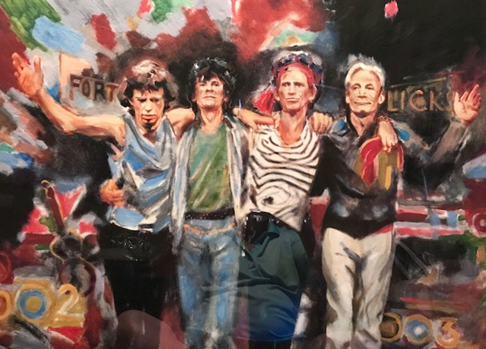 Ronnie Wood Rolling Stones Art For Sale