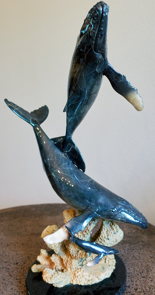 Humpback Life Bronze Sculpture 1998 22 in