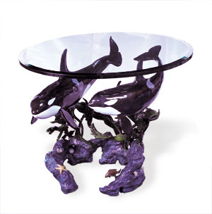 Orca Family Bronze Table 2006 29x36