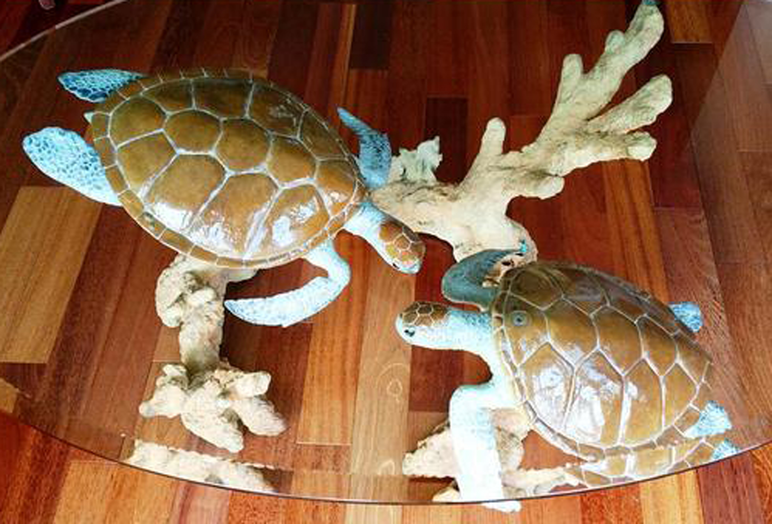 Turtle Reef Bronze Coffee Table 1998 41 in