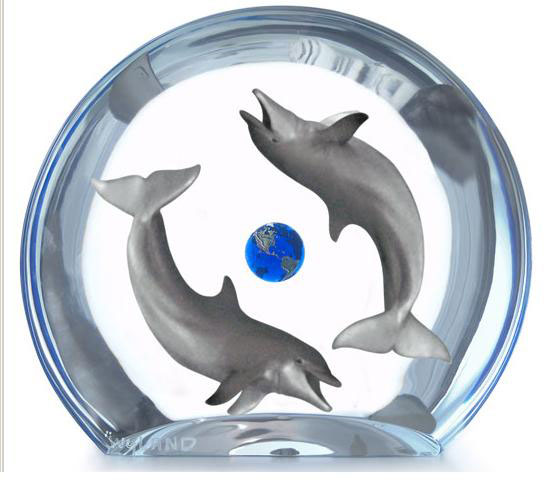 Dolphin Planet Sculpture AP