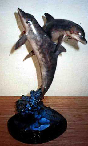 Ocean Friends Bronze Sculpture 1994 17 in