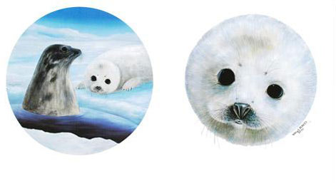 Save the Seals  Diptych 1990