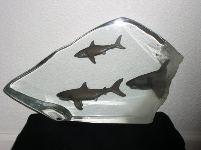 Shark Tribe Acrylic Sculpture 2004