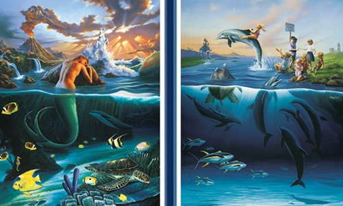 Mermaid Dreams, Dolphin Rides Diptych 1992