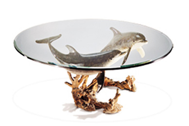 Reef Visit End Bronze Coffee Table by Robert Wyland