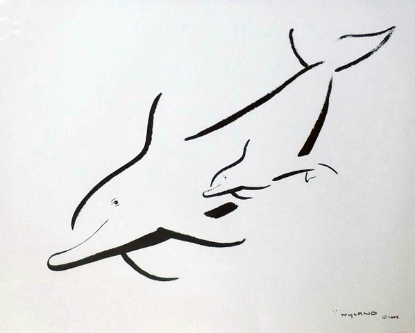 Untitled (Dolphin) 2005 28x22