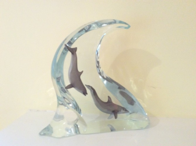 Dolphin Light Acrylic Sculpture 2002