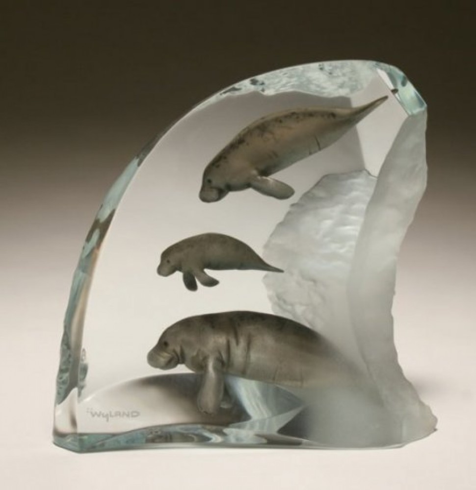 Manatee Tribe Lucite Sculpture AP 2003