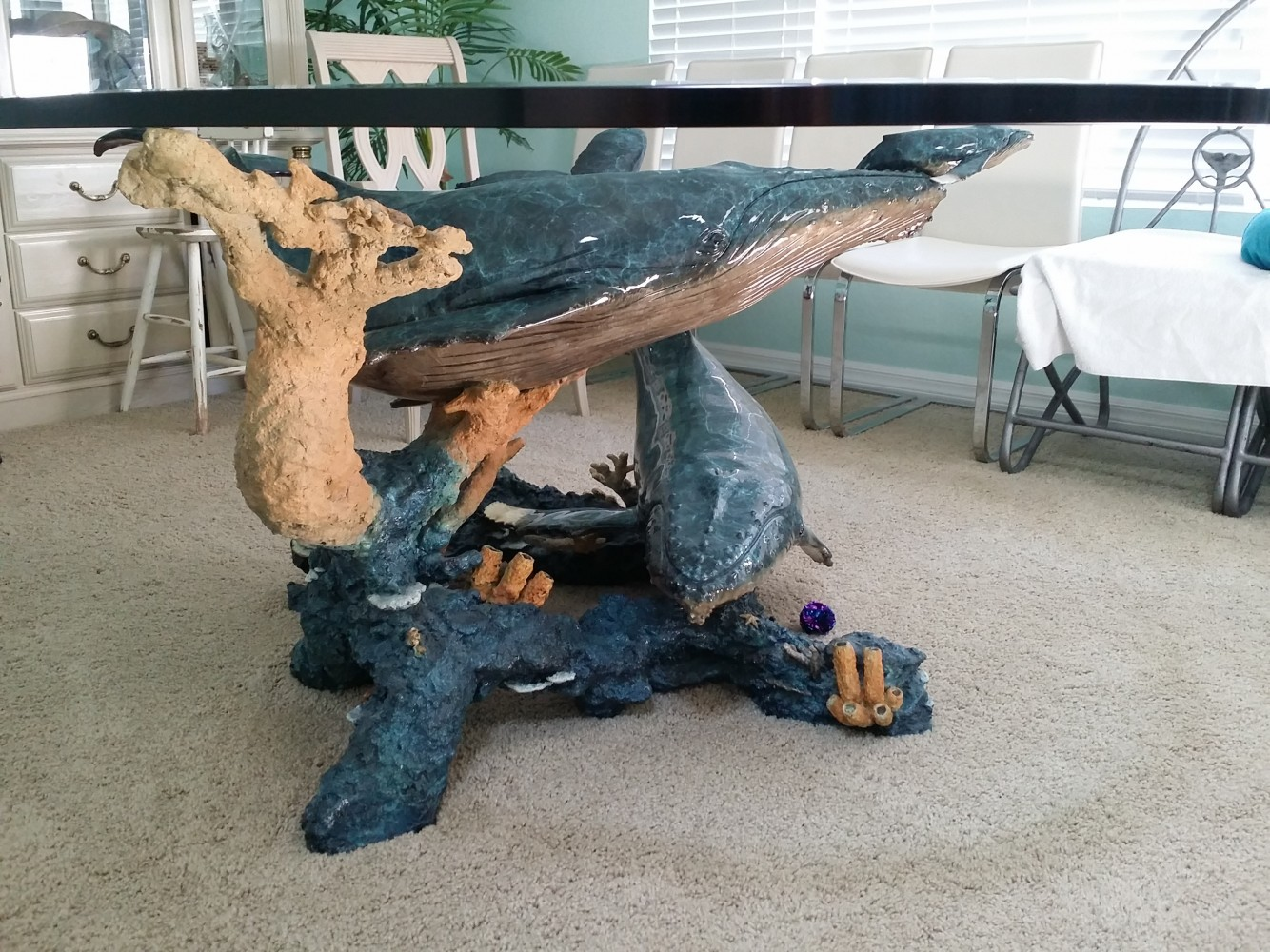 Humpback Realm Bronze Table  Sculpture 2002