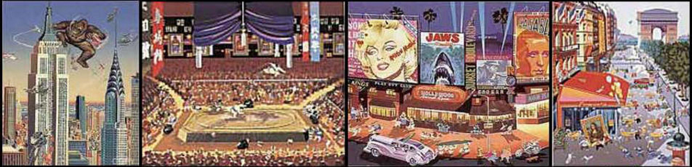 Four Cities Suite of 4 1985
