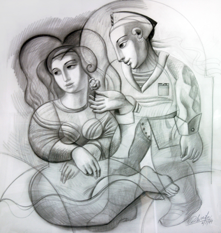 Sailor's Dream Drawing 1999 46x44