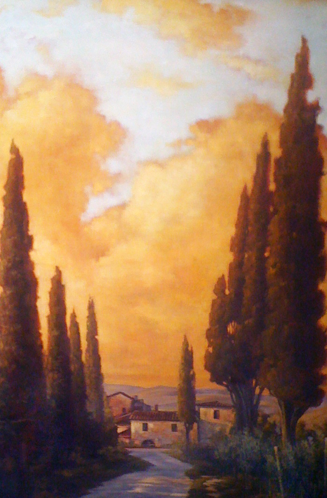 Tuscany Twilight 2007 48x68