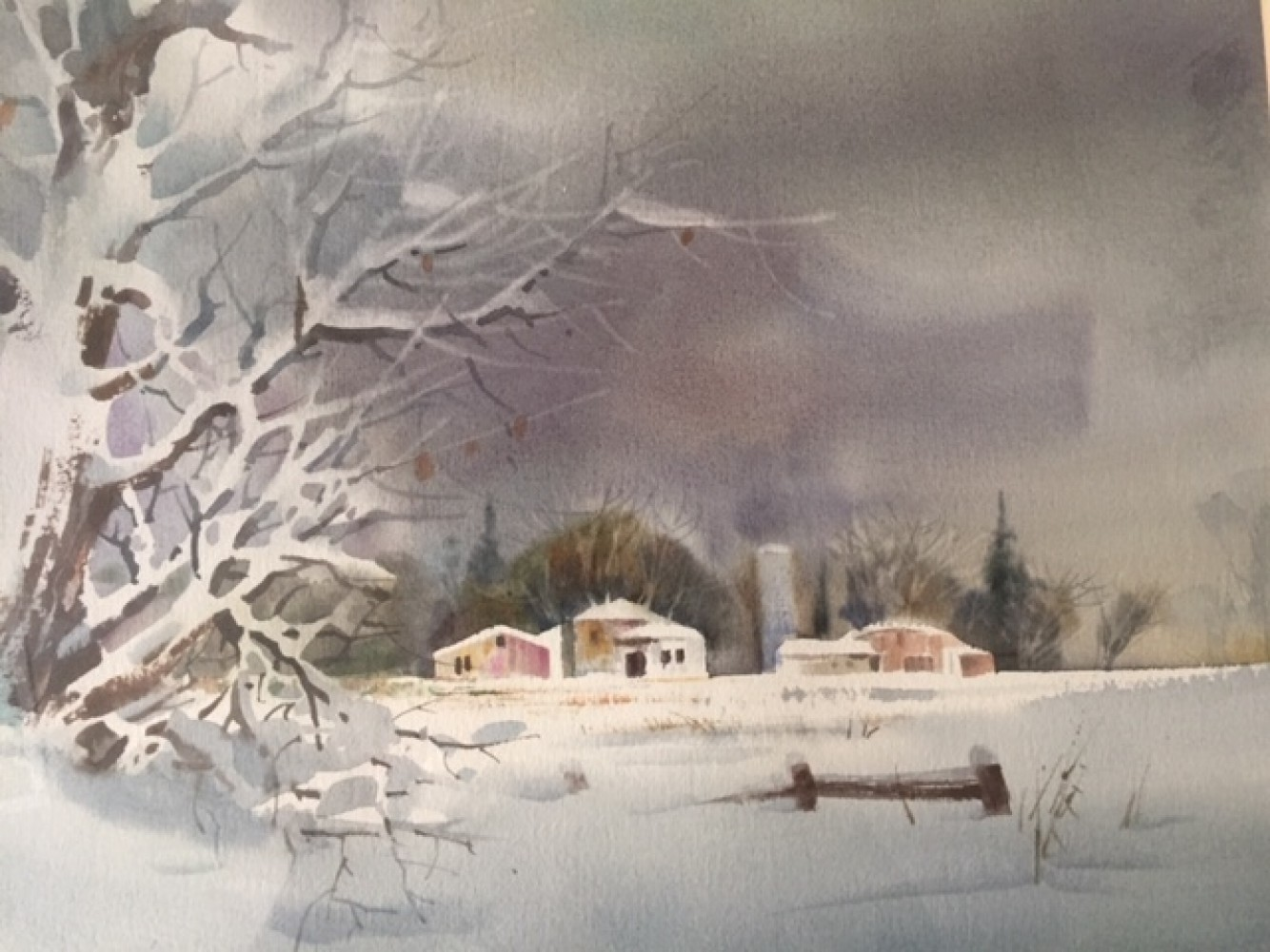 Untitled   (midwest Winter) Watercolor 1992  20x24