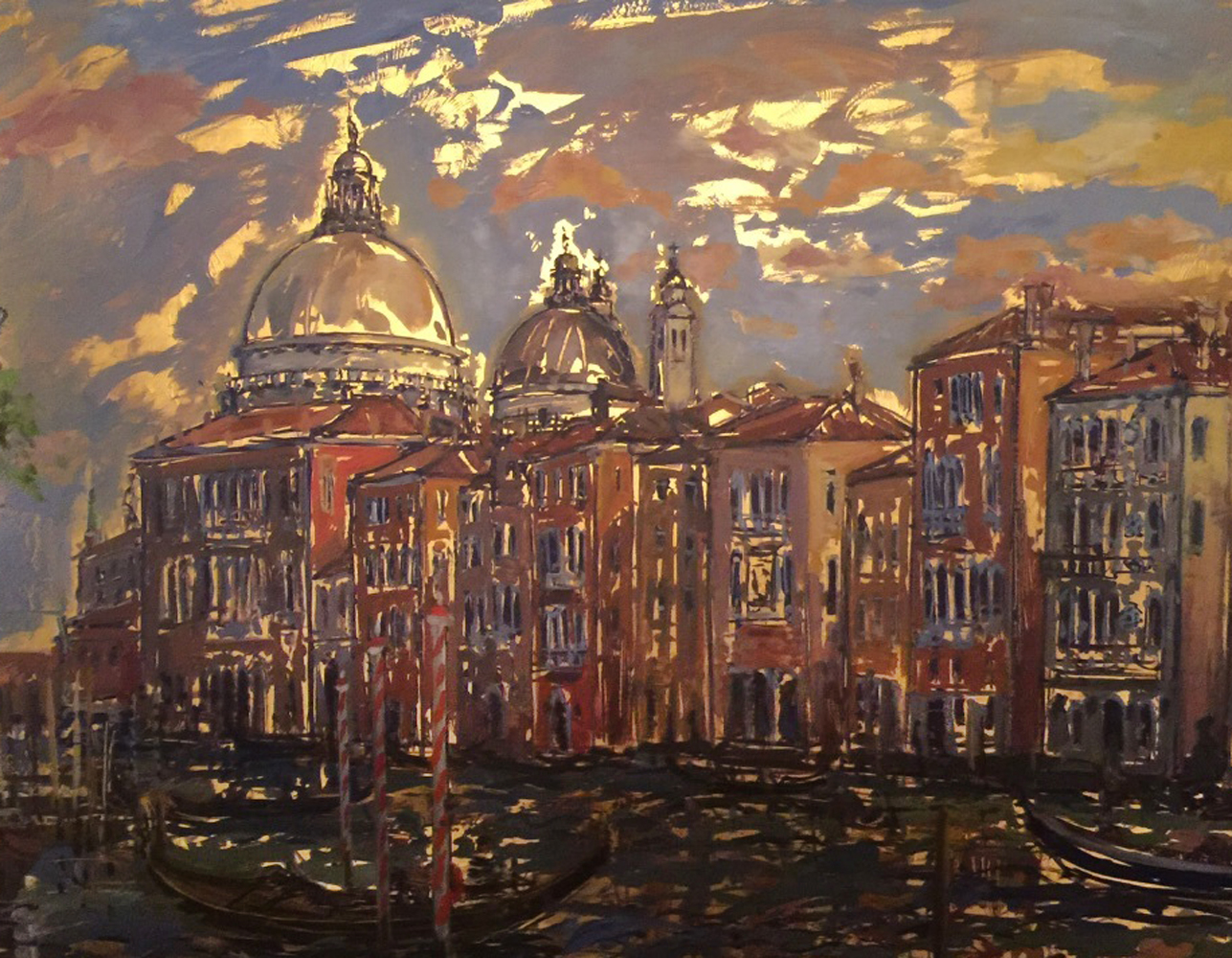 Grand Canal From Campo San Mauritzio 2004 25x32