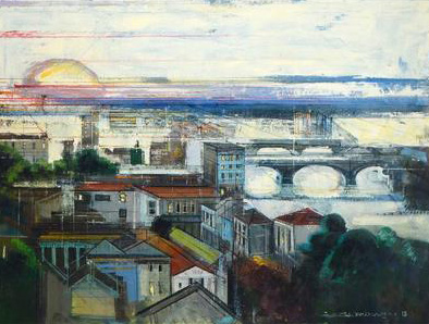 Bridges of Florence 38x48 Italy
