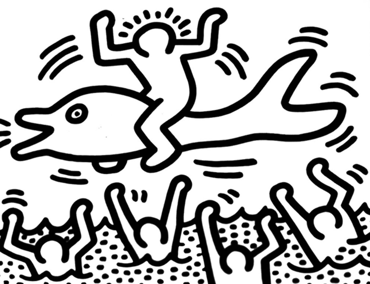 Keith haring coloring pages sketch coloring page for Keith haring figure templates