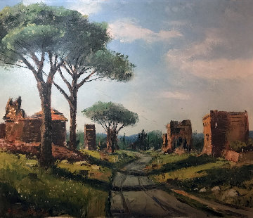 Catacombs Rome 21x28 Original Painting by Ben Abril