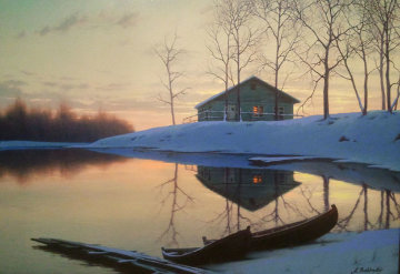 Peaceful Sunset 2004 Embellished Limited Edition Print - Alexei  Butirskiy