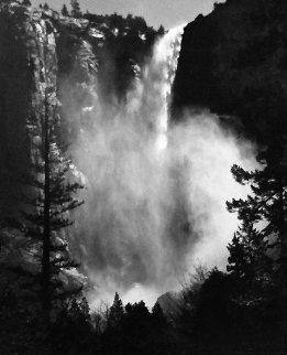 Bridalveil Fall, Yosemite National Park, California 1960 Limited Edition Print - Ansel Adams