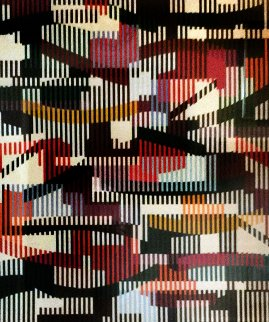Untitled   Monotype Unique 1990 40x34 Limited Edition Print - Yaacov Agam