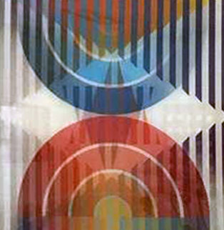 Star of David Combined With Hanukia 2002 Agamograph Sculpture - Yaacov Agam