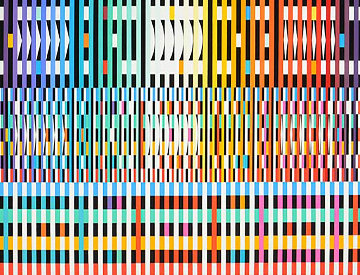 Thanksgiving 2001 Limited Edition Print - Yaacov Agam