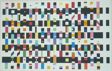 Untitled Silk Screen 1976 Limited Edition Print - Yaacov Agam