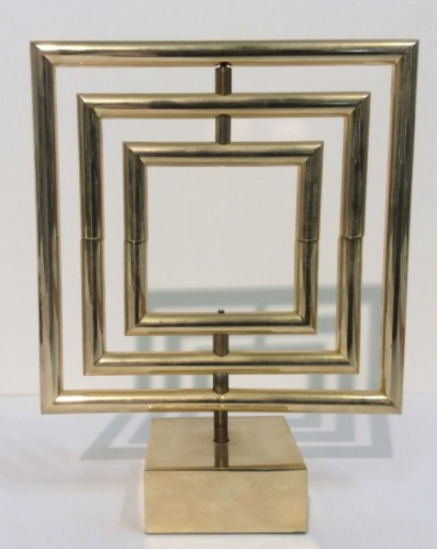 Space Divider Brass Sculpture 1980