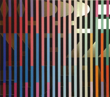 Gold 1980 Limited Edition Print - Yaacov Agam