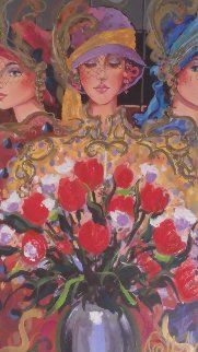 3 Ladies With Wildflowers 2004 Limited Edition Print - Otto Aguiar