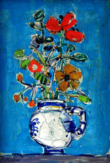 Untitled Still Life 23x16 Original Painting - Paul Aizpiri