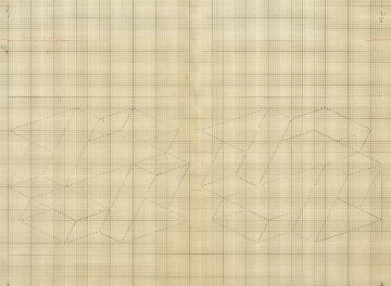 Study / Sketch For a Structural Constellation 1969 22x27 Works on Paper (not prints) - Josef Albers