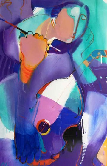 Woman With Violin 2010 48x35
