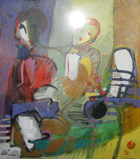Shadow 1996 16x14 Original Painting - Ali Golkar