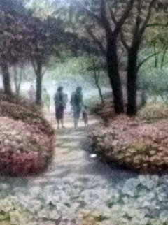 A Family Walk AP 1980 Central Park Limited Edition Print - Harold Altman