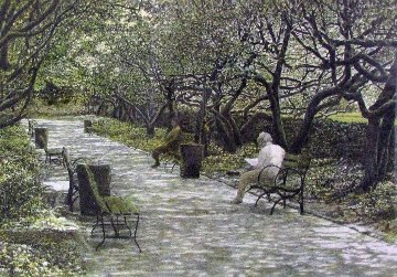 Benches AP 1986 Limited Edition Print - Harold Altman